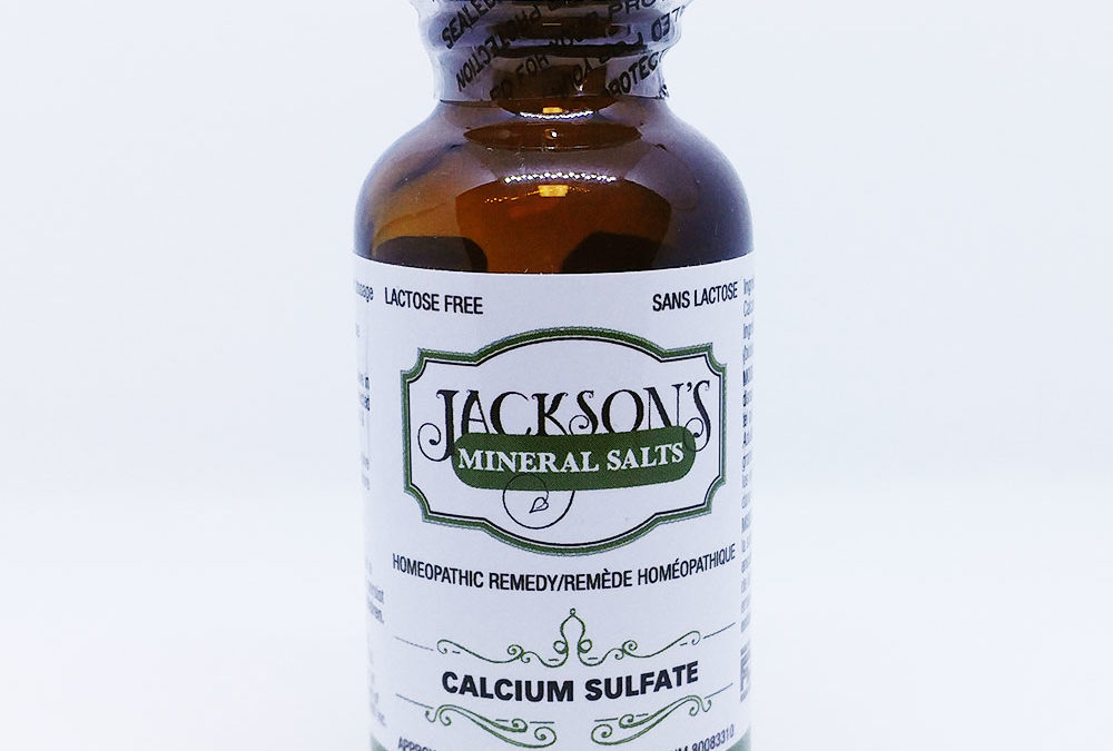 Schuessler Cell/Tissue Salt: Calcarea sulphurica for acne and skin eruptions